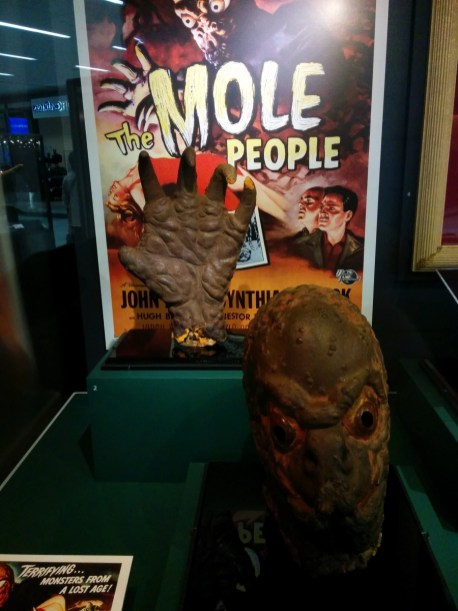 The Mole People, prop hand and head, 1956, by Bud Westmore