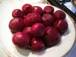 A bowl of delicious looking beets is what you're left with. You could, at this point, just gobble them up!