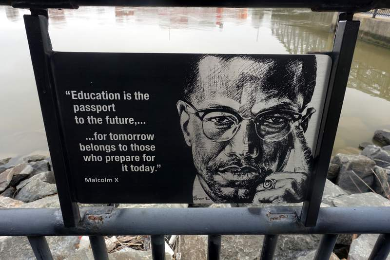 """""""Malcolm X"""" by Eli Kince"""