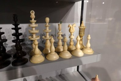 German Ivory Figural Set, 1850