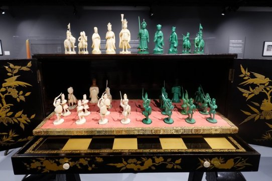chess board cabinet