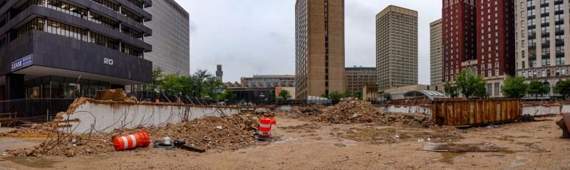 The former Mechanic's Center, gone.