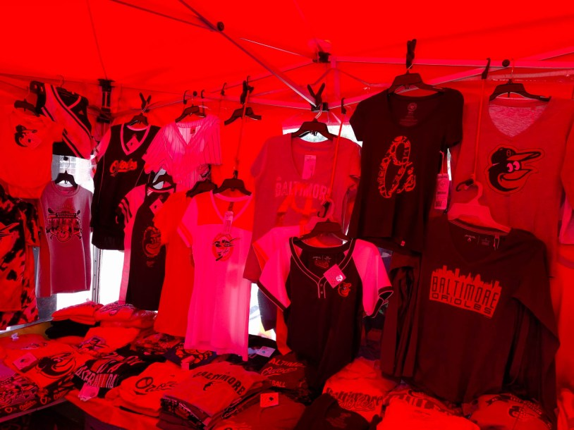 the tent is orange, so everything inside had this fluorescent hue to it