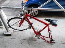 poor cycle...no doubt a quick-release rear wheel, dang...
