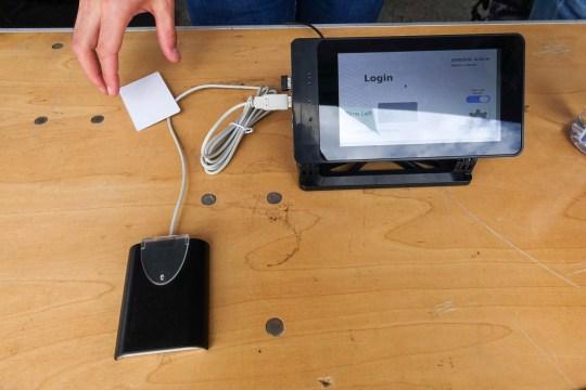 RFID login terminal by folx at Columbia University
