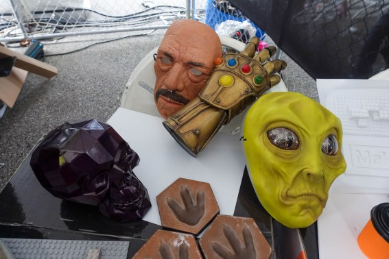 silicone masks and props
