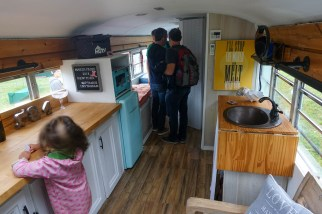 inside a bus apartment
