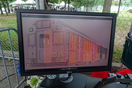 CAD design of train car
