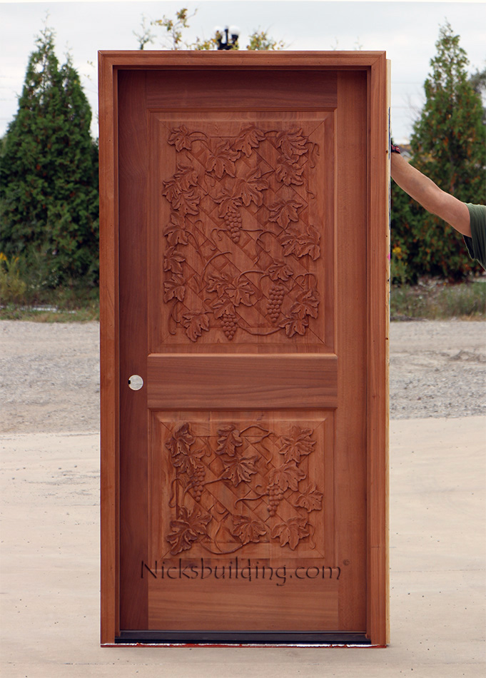 Wine Cellar Door In Mahogany CL 63