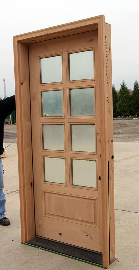 Exterior 8 Lite Rustic Alder Doors