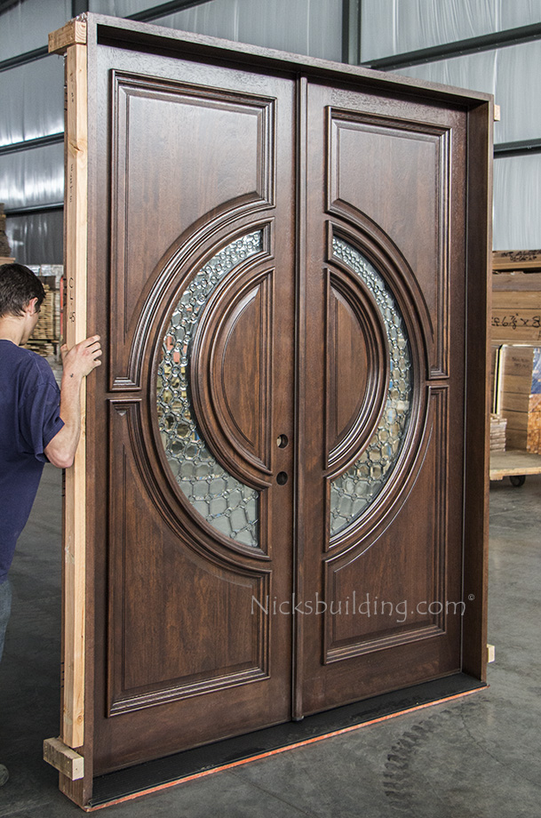 Tiffany Mahogany Double Doors