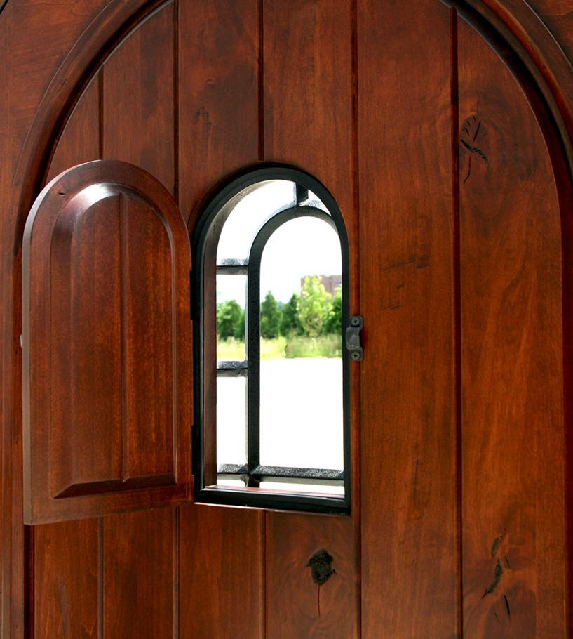 Rustic Round Top Exterior Door Sonoma