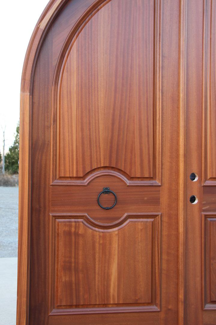 Arched Double Doors Exterior Mahogany