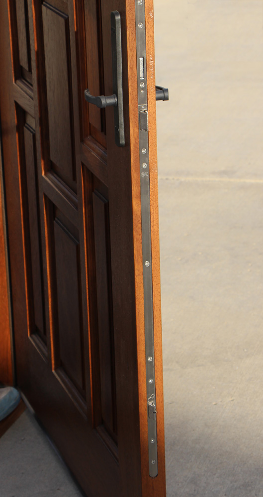 Exterior Mahogany Door With Sidelights