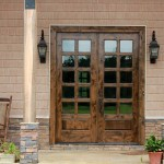 Knotty Alder Patio Doors