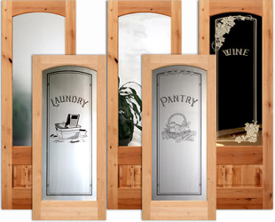 Arched Interior Glass Doors