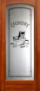 Mahogany Interior Arched Glass Doors - French Doors