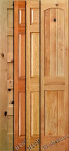 Bifold Doors - Mahogany, Knotty Alder and Oak