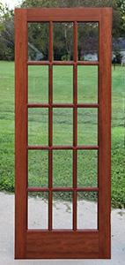 Interior French Doors, 15 lite Mahogany French Doors