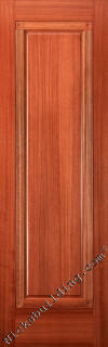 One Panel Interior Mahogany Doors with fluted trim and rosettes