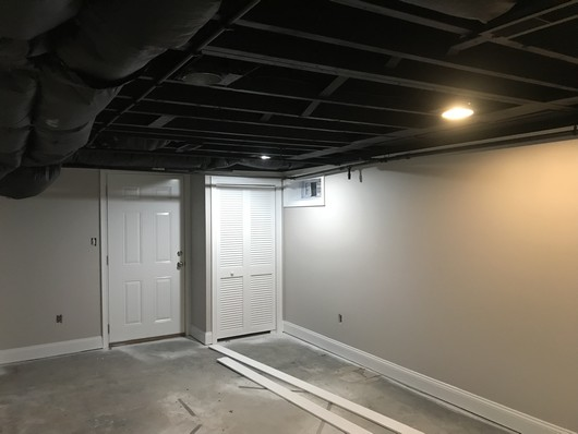 Painting Basement With Unfinished Ceilings In Burlington