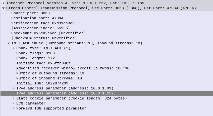 SCTP Parameter Tuning