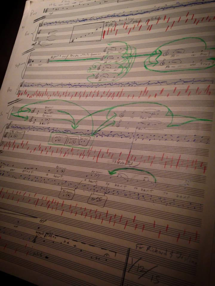 Nick Norton's sketch for Song for Justine and Richard.
