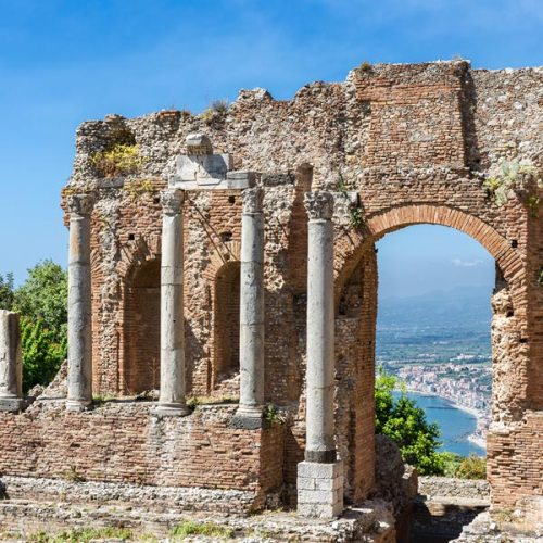 Ancient ruins in Sicily