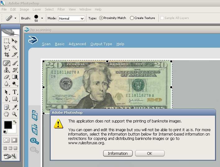 Photoshop CS2 Changes Banknote Handling   NicMyers com