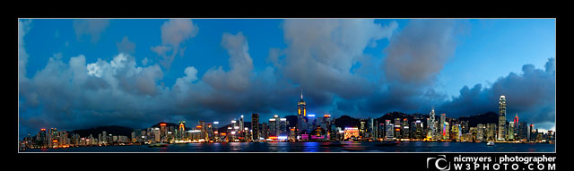Hong Kong Island from Kowloon, Hong Kong, China