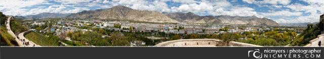Lhasa Tibet Panoramic