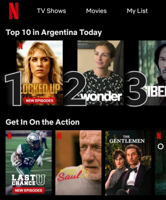 Netflix's image carousels