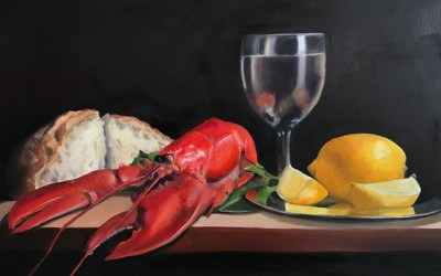 New Painting – Lobster Reflections