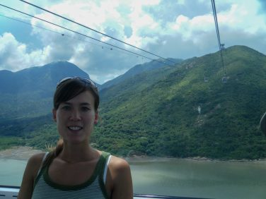 The cable car journey up to the Tian Tan Buddha on Lantau Island