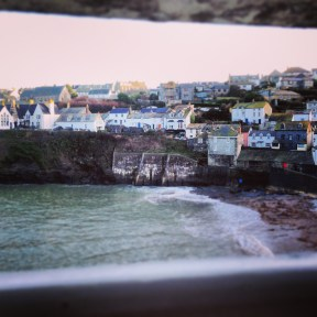The view of Port Isaac from my bedroom window