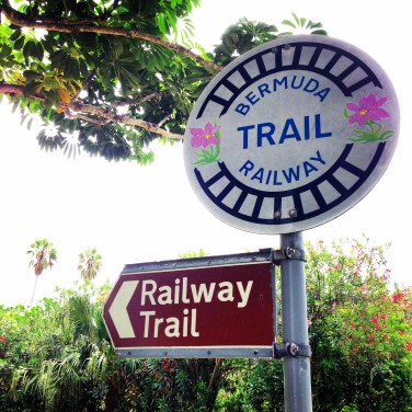 Signposts on the Bermuda Railway Trail