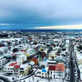 The view of Reykjavik from Hallgrimskirkja church