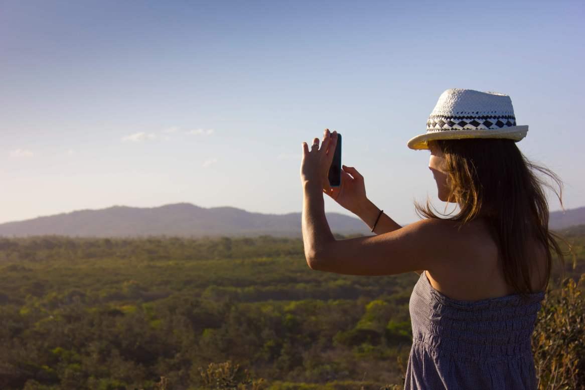 Me taking photos of the incredible views in Bundjalung National Park, Australia