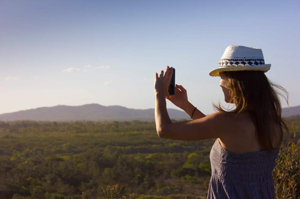 Me taking photos of the incredible views in Bundjalung National Park, Australia