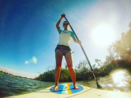 Paddle boarding on Noosa River