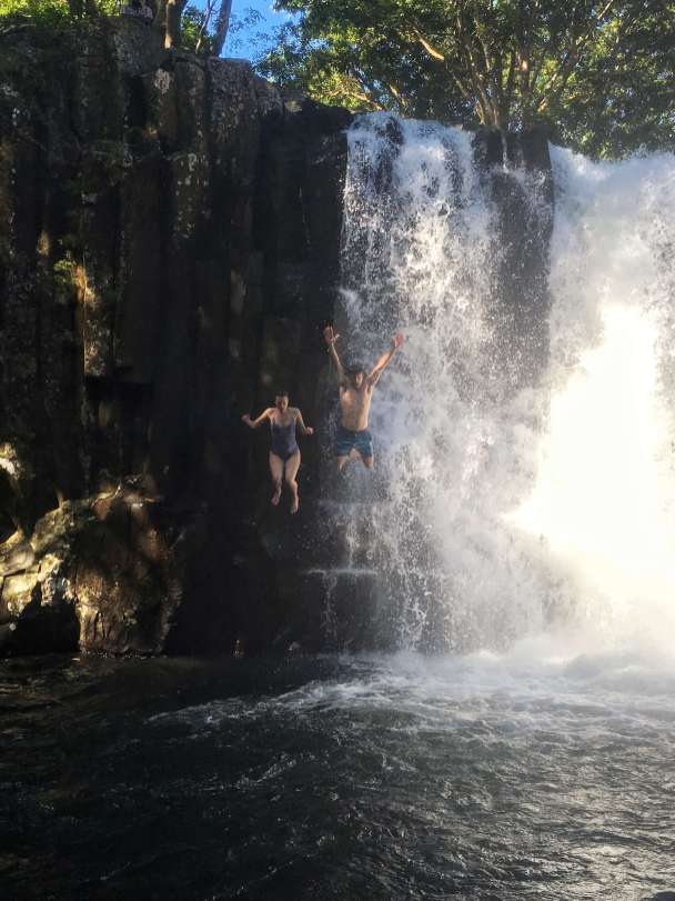 Jumping from the middle of Rochester Falls