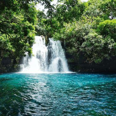 Eau Bleue waterfall
