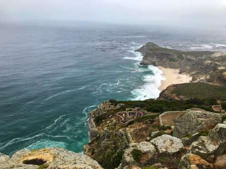 The view from Cape Point Lighthouse