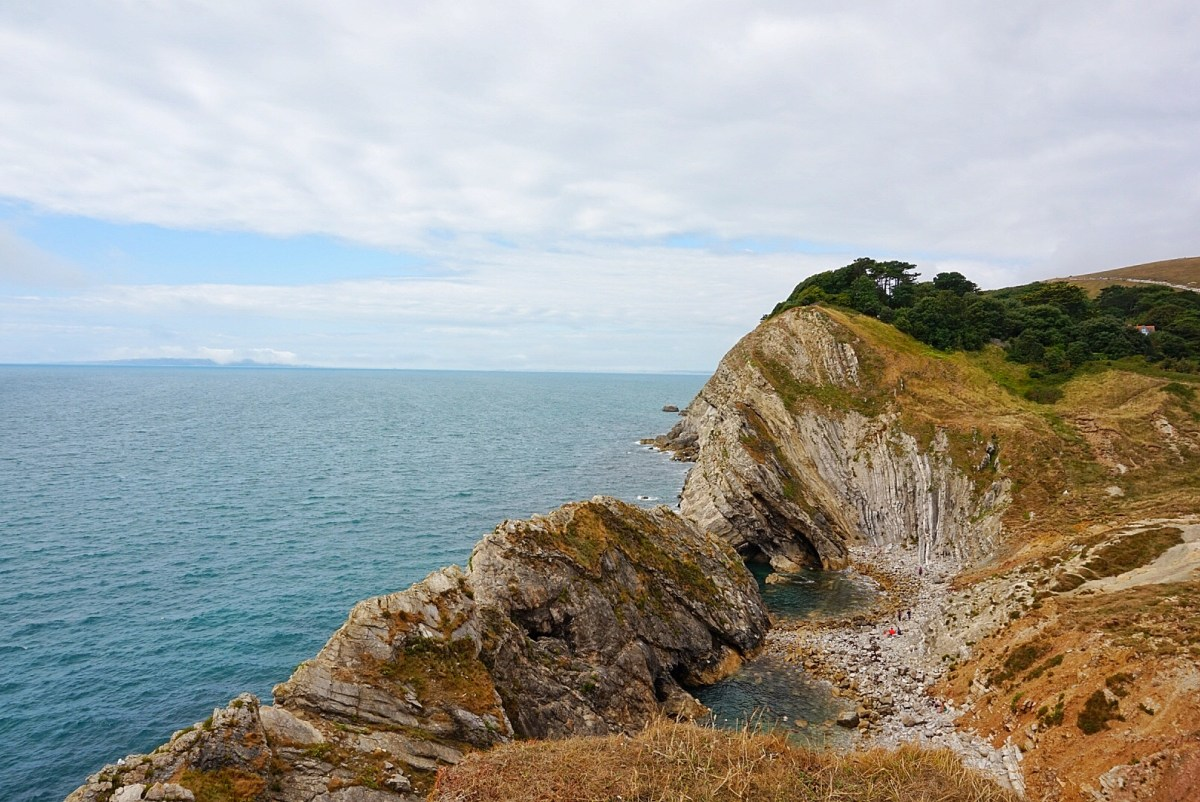 The views of the coastline by Lulworth Cove.
