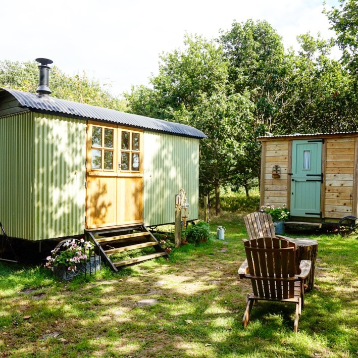 Glamping in a Shepherd's Hut at Warmwell House in Dorset