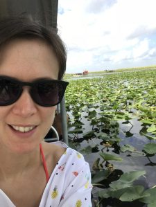 Selfie on an airboat trip, Fort Lauderdale.
