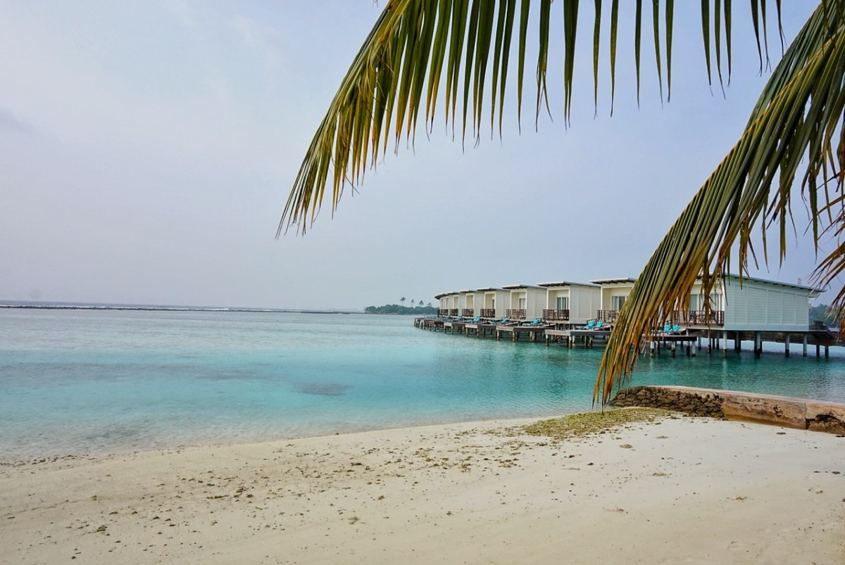 Beach villas in the Maldives