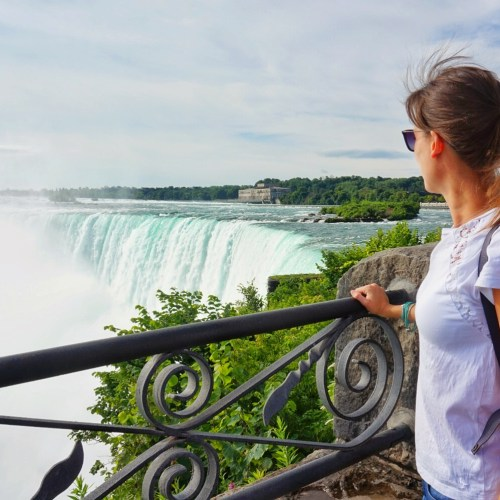 Looking over Niagara Falls, Canada.