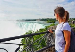 Looking over Niagara Falls, Canada.