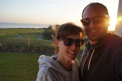 A selfie with Matt at Sandymouth Holiday Resort, Bude, Cornwall.